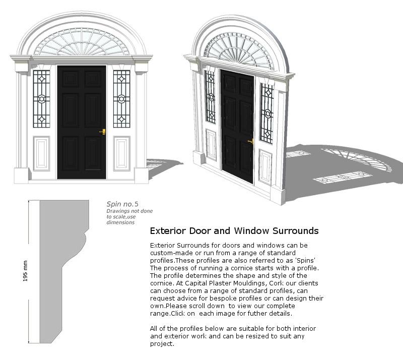 Window And Door Surrounds Capital Plaster Mouldings